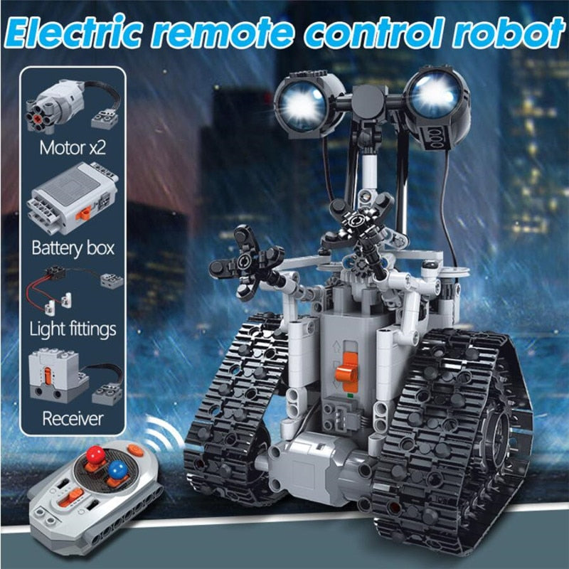 Lepin Technic remote Control Intelligent Robot Bricks Toys For boys 408PCS City Creative MOC RC Robot Electric Building Blocks