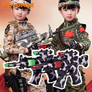 Submachine Gun Electric Simulation Pistol Submachine Gun Music Camouflage Gun Christmas Birthday kids Gift