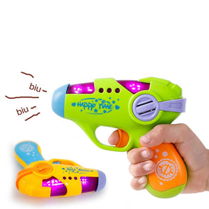 Baby Toys Small Pistol Simulation Gun Sound Electric and Light Toys Gun baby Educational Toys 3Y+