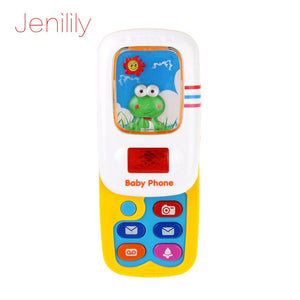 Jenilily Funny Slider Phone Toys Baby Learning Study Musical Sound phone Children Educational Toy Mobile Phone electric  1013-2