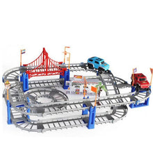 Load image into Gallery viewer, Electric Model Racing Train Track Set