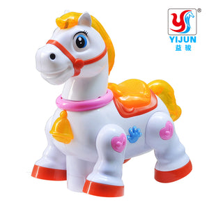 Musical Light Up Toy Horse For Kids