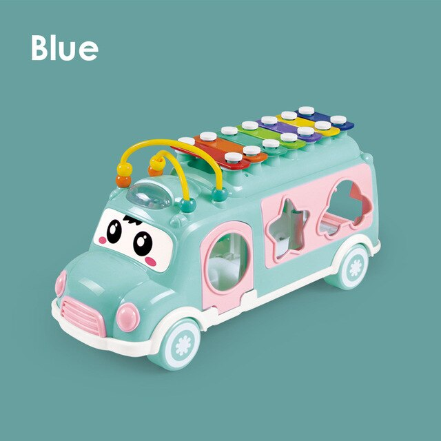 Music Bus Toys Instrument Knocking piano Lovely beads Blocks Sorting Learning Educational Baby Toys for Children