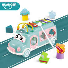 Load image into Gallery viewer, Music Bus Toys Instrument Knocking piano Lovely beads Blocks Sorting Learning Educational Baby Toys for Children