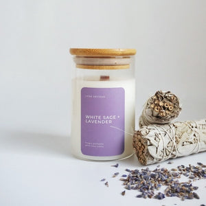 White Sage + Lavender Candle