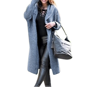 Women Long Cardigan Solid Hooded Sweater 2019 Autumn Warm Thick Long Coat Winter Knitting Coat Plus Size 5XL Casual Knittwear