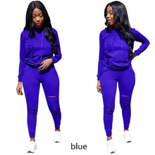 Load image into Gallery viewer, RAISEVERN New Pink Letter Print Tracksuit Women Casual Outfits 2 Two Piece Set Full Pants Suits Plus Size Clothing Autumn