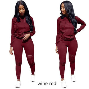 RAISEVERN New Pink Letter Print Tracksuit Women Casual Outfits 2 Two Piece Set Full Pants Suits Plus Size Clothing Autumn