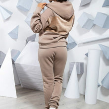 Load image into Gallery viewer, RAISEVERN Two Piece Set 2019 New Autumn Tracksuit For Women Suit For Office Lady Loose Casual Women Sports Velvet Suit Plus Size