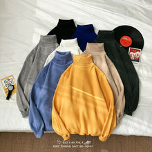 Load image into Gallery viewer, Meihuida Winter Male Men Casual Long Sleeve Candy Colors High Collars Roll Turtle Neck Soft Knitted Solid Sweater Pullover Tops