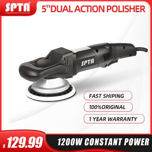SPTA 5inch/6inch 125mm Forced rotation Dual Action polisher, DA Polisher Car Polisher & Polishing Pads
