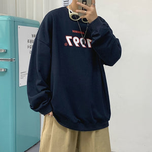 Privathinker Autumn Men Casual Sweatshirts Harajuku 1997 Printed Men Oversized Hoodies 2020 Korean Man Casual Loose Pullovers