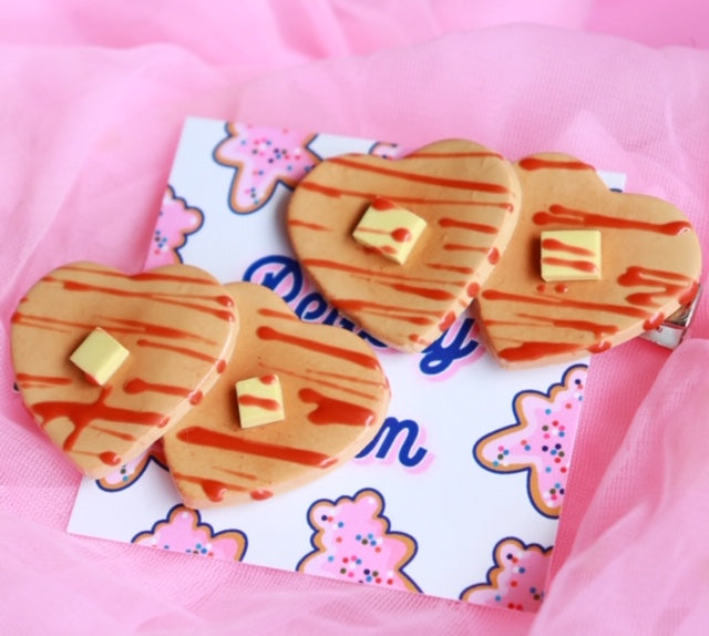 Buttered Pancake Hair Clips