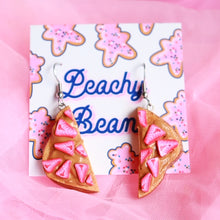 Load image into Gallery viewer, PB & Strawberry Toast Earrings