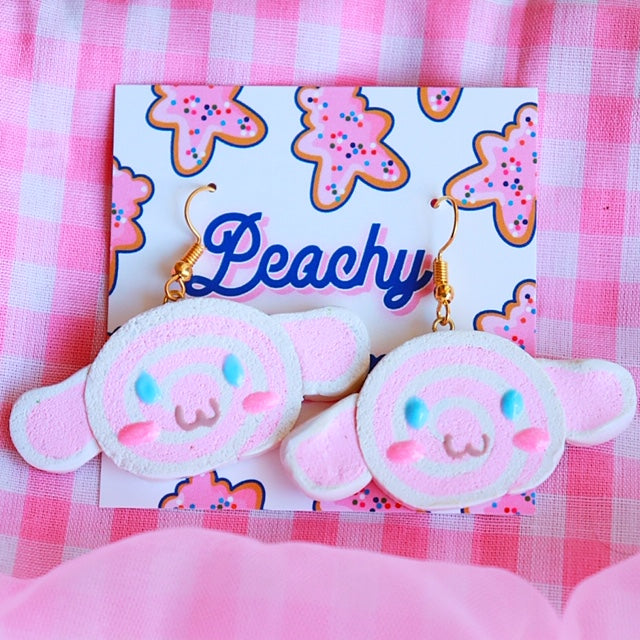 Pastel Puppy Earrings