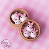Basket Buddy Earrings - Bunnies