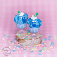 Blue Puppy Sundae Earrings
