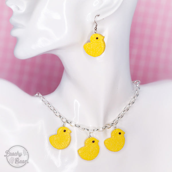 Marshmallow Chick Choker - YELLOW