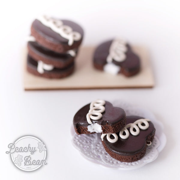 Chocolate Cupcake Heart Earrings