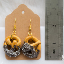 Load image into Gallery viewer, Chocolate Dipped Pretzel Earrings