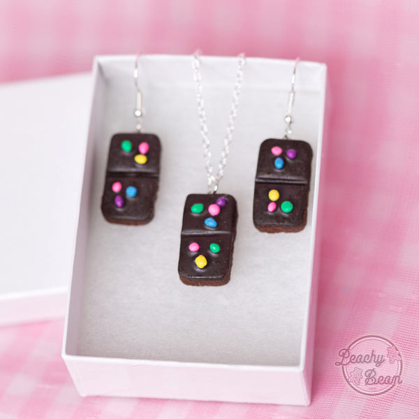Mini Brownie Earring & Necklace SET