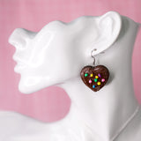 Brownie Heart Earrings