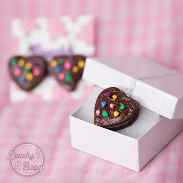 Brownie Heart Necklace