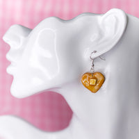 Heart Pancake Earring & Necklace SET
