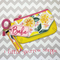 Lemon Clutch Purse & Earring Set - Handmade