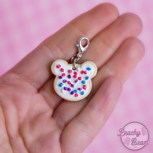 Peachy Bear Cookie Charm