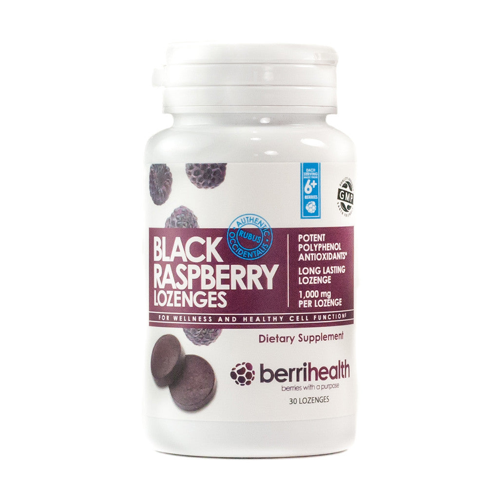 Authentic 1000 mg Black Raspberry Lozenges - Bottle of 30
