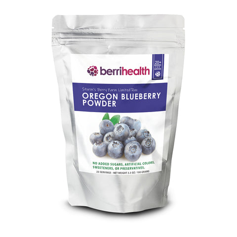 Oregon Blueberry Powder - 100 Gram Pouches