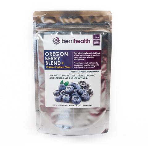 Oregon Berry Blend PLUS - Oregon Berries + Organic Psyllium Fiber