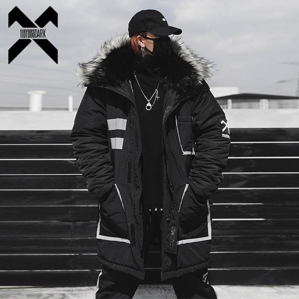 11 BYBB'S DARK Hooded Fur Collar Parka