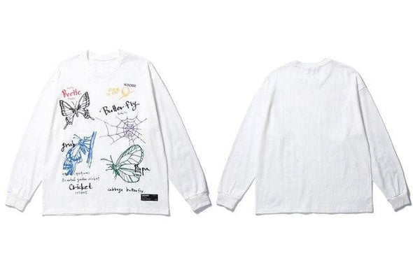 GWTW™  Graffiti Beetle Butterfly Long Sleeve