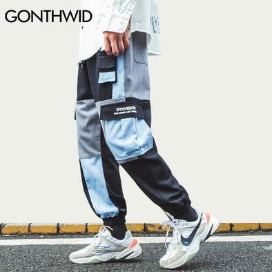 GWTW™ Multi Pocket Color Block Harem Jogger