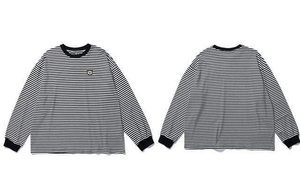 GWTW™ Embroidered Bear Striped Long Sleeve Tee
