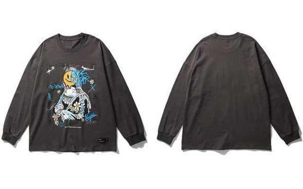 GWTW™ Mona Lisa Graffiti Long Sleeve Tee