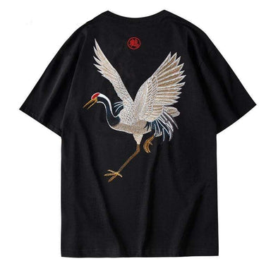 GWTW™ Embroidered Crane Tee
