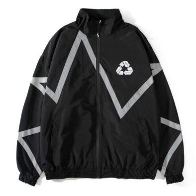 Gone With The Wind Streetwear Jackets Black / XL GWTW™  AGAIN Reflective Jacket