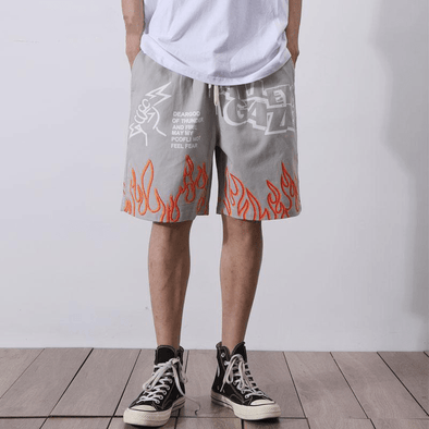 Gone With The Wind Streetwear Shorts GWTD™ Graffiti Flames Shorts