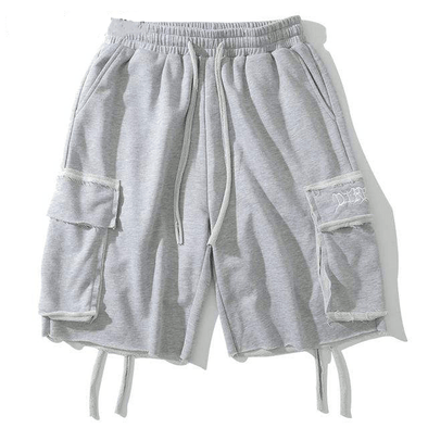 Gone With The Wind Streetwear Shorts Light Gray / L GWTW™ Distressed Jogger Shorts