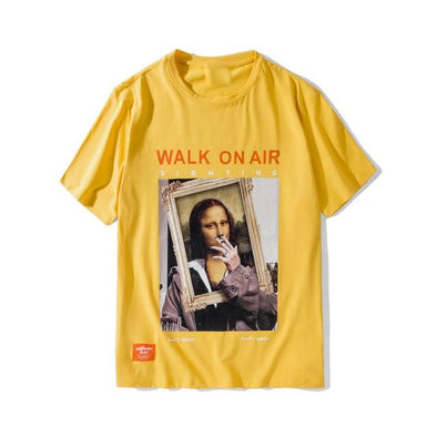 Gone With The Wind Streetwear Yellow / Asian L GWTW™ Mona Lisa 'Walk On Air' Tee