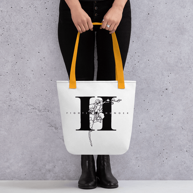 Fighting Hunger Floral Tote bag