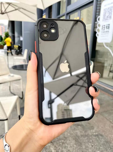 iPhone 11 ProMax HD Transparent Case with Camera Protection