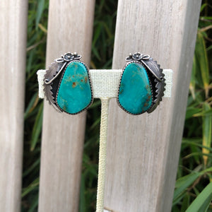 Turquoise Navaho Clip On Earrings