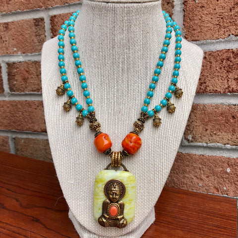 Tibetan Buddha Necklace