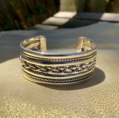 Sterling Silver Braided Cuff