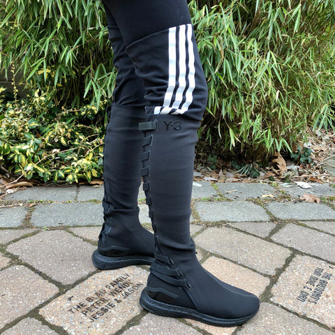 Y-3 Thigh High Stretch Boots