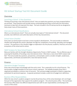 School Start Up Tool Kit